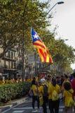 People manifesting ingependence of Catalonia Stock Photos