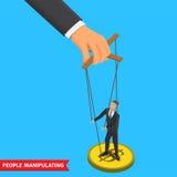 People manipulating illustration Royalty Free Stock Photography