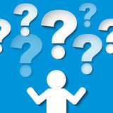 People with many question marks. Royalty Free Stock Photography