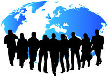 People and map Stock Images