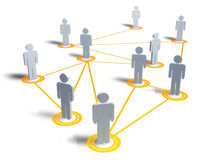 People map with connection. A map of people and their connections Stock Photography