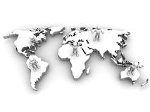 People with map of world Royalty Free Stock Photos