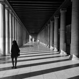 People marble columns Stock Image
