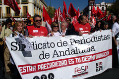 People marching in a demonstration 52 Stock Photo