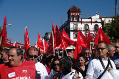 People marching in a demonstration 53 Stock Photography