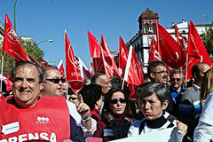 People marching in a demonstration 54 Stock Image
