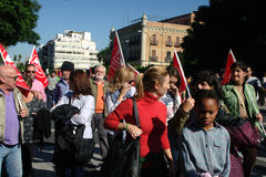 People marching in a demonstration 57 Stock Photo