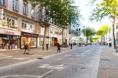 People on Mariahilferstrasse street in Vienna Stock Image