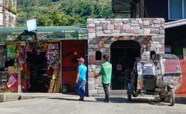 People at the market at Banaue town in Ifugao, Philippines Stock Image