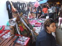 People in a market in Bangkok, Thailand. Royalty Free Stock Image