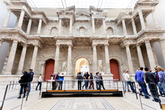 People in Market gate Hall of Pergamon museum Stock Photography
