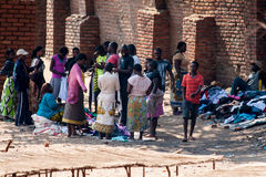 People at the market in Malawi. Stock Photo