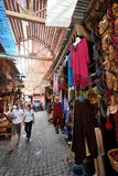 People in a market in Marrakesh, Morocco. Unknown people in a market (souk), August 08, 2015 in a Marrakesh, Morocco. The traditional Berber market is one of the Royalty Free Stock Image