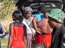 People at the market, North Botswana stock image