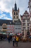 People at Market square in Trier Royalty Free Stock Images