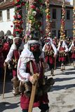 People with mask called Kukeri dance and perform to scare the evil spirits