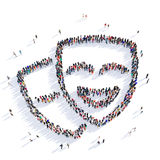 People mask masquerade 3d Stock Photo