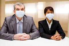 People in masks Royalty Free Stock Photos