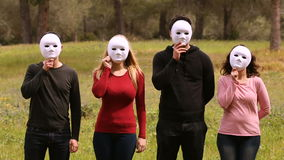 For people with masks stock footage