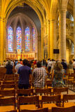 People during mass in Saint Michael's Church Royalty Free Stock Images