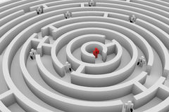 People into the maze. Search of solution. Team. Royalty Free Stock Photography