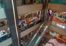 People at MBK Shopping Mall in Bangkok royalty free stock image