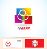 People media logo Stock Photography