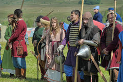 People in medieval clothes Royalty Free Stock Images