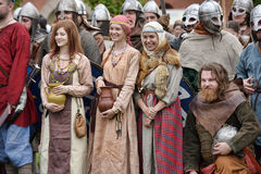 People in medieval clothes Royalty Free Stock Photo