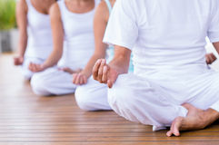 People meditating Royalty Free Stock Photography