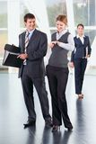 People at meeting. Portrait of young business people at meeting indoor Stock Image