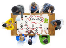 People in a Meeting and Connection Concept Royalty Free Stock Photo