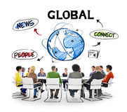 People in Meeting About Global Communication Stock Photos