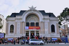People meeting at Ho Chi Minh City Opera house, VietNam Royalty Free Stock Photos
