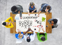 People in a Meeting and Leadership Concepts Stock Photo