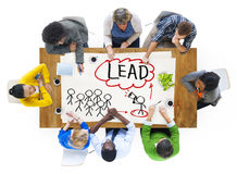 People in a Meeting and Leadership Concepts Stock Image