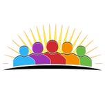 People meeting logo Stock Image