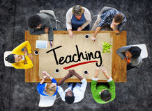 People in a Meeting and Single Word Teaching. Concepts stock photography