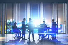 People meeting in a skyscraper, Stock Photos