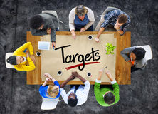 People in a Meeting and Target Concepts Stock Images