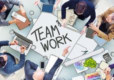 People Meeting with Teamwork Concept Royalty Free Stock Photos