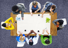 People Meeting Work Place of Work Team Concept Stock Photo