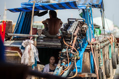People of Mekong Delta, Cai Be, Vietnam. Mekong Delta, Cai Be District, Tien Giang Province, Cai Be Town, Cai Be Floating Market, South Vietnam, local people at Stock Photography