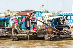 People of Mekong Delta, Cai Be, Vietnam Royalty Free Stock Images