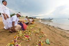 People during Melasti Ritual. Stock Photography
