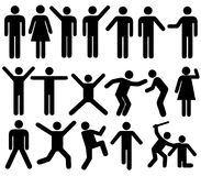People men women actions positions silhouettes stock illustration