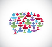 People message bubble illustration Royalty Free Stock Photography