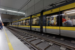 People on the metro station Trindade in Porto, Portugal Royalty Free Stock Image
