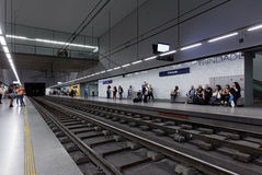 People on the metro station Trindade in Porto, Portugal Royalty Free Stock Photo
