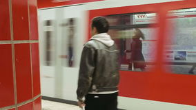 People at the metro subway station stock footage